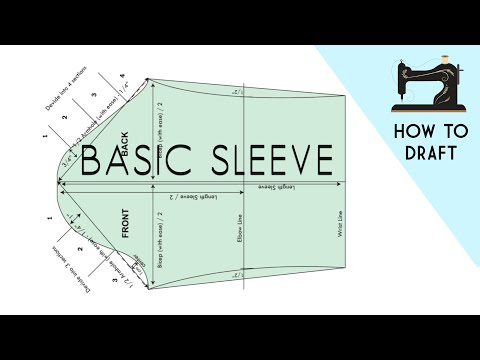 Drafting Basic Sleeve Pattern in Professional Ways