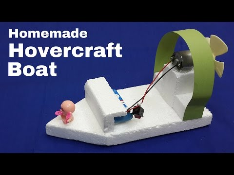 How to Make an Electric Toy Hovercraft Boat that Moves Faster