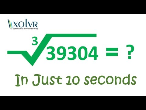 Cube root of any number in 10 seconds.