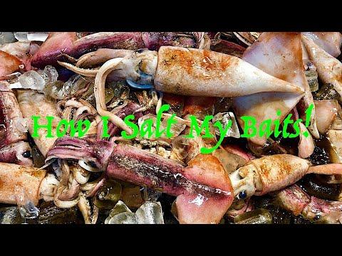 How I Salt Shrimp & Squid For Bait!