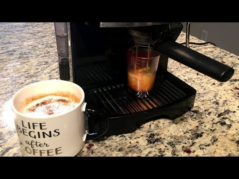 How to Make Espresso at Home + Review of Mr. Coffee ECMP50 Espresso / Cappuccino Machine
