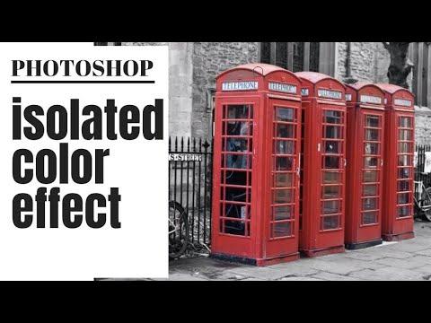 Photoshop Selective Color Effect - Create a Color Splash Effect