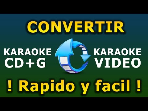 Convertir Karaoke CDG a Video AVI | Karafun Player Karaoke PC
