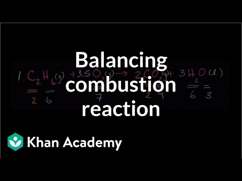 Balancing another combustion reaction | Chemistry | Khan Academy