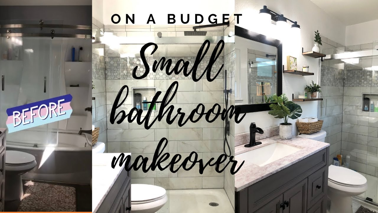 Small Bathroom Remodel on a Budget// Master Bath Remodel