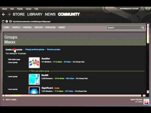 How to make a new group in Steam