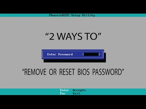 How to remove or reset bios password 100% working