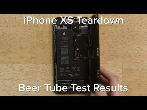iPhone XS Teardown and Beer Tube Test Results