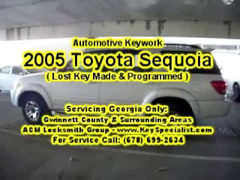 2005 Toyota Sequoia - Lost Key Replacement Made & Programmed! Locksmith Duluth GA