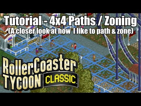 Roller Coaster Tycoon Classic - Tutorial - 4x4 Paths and Zoning