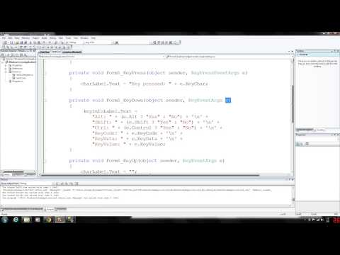 C# Programming 70 - Keyboard Event Handling