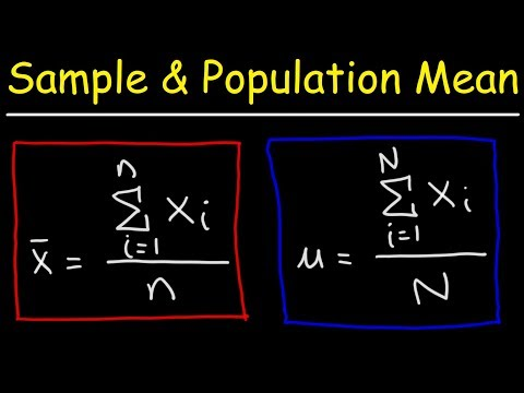 Sample Mean and Population Mean - Statistics