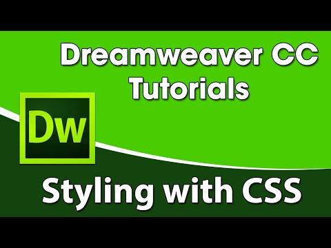 Dreamweaver CC Training  Styling with CSS/Stylesheets