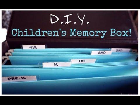 How To: Organize Children's School Work & Art Work   DIY Memory Box