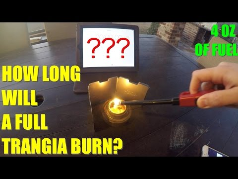 How Long Will a Full Trangia Burn?