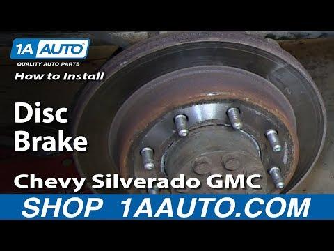 How To Install Replace Rear Disc Brake Calipers Chevy Silverado GMC Sierra