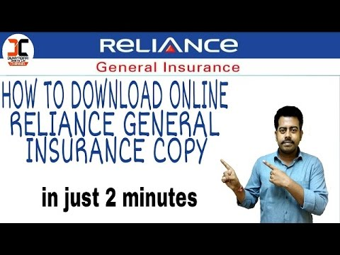 how to download reliance general insurance policy copy online