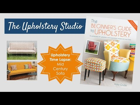 Upholstery Time Lapse - Mid Century Parker Knoll Sofa