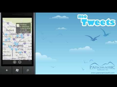 moTweets for Windows Phone 7 - User Location - Panoramic Software Inc.