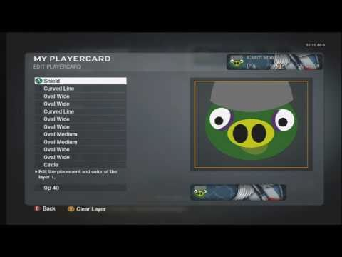 Black Ops Emblem Tutorial: Pig From Angry Birds