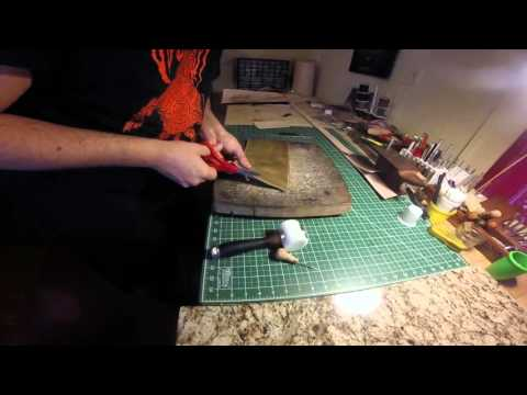 How to make a simple leather drawstring pouch / dice pouch