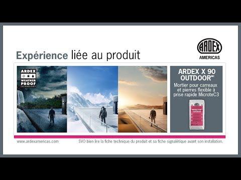 « Test de la chambre froide » – ARDEX X 90 EXTÉRIEUR Expérience liée au produit