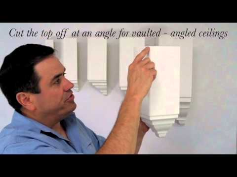 How to use crown molding corners blocks