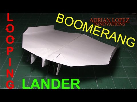 How To Make an Easy Boomerang Paper Airplane, BEST paper planes in the world