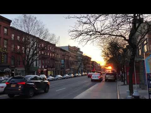 sunset on Atlantic Ave, Brooklyn, New York (4-26-18)