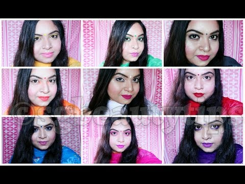 Indian GRWM | 9 looks for 9 Days of Navratri | Colour theme 2017 |