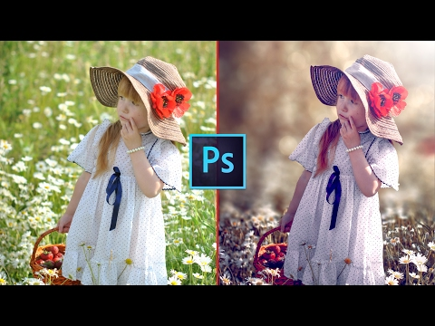 Photoshop CC Tutorial - Fantasy Look Photo Effect Editing | Bokeh Background