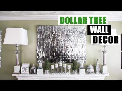 DIY DOLLAR TREE FRINGE WALL DECOR DIY Faux Mirror Like Wall Art Glam Home Decor