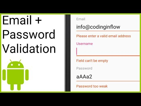 Validate Email & Password with Regular Expression - Android Studio Tutorial