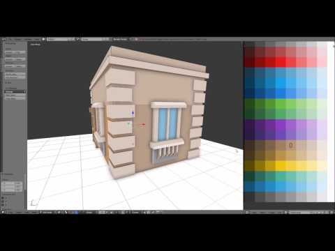 Low-poly House with Blender #1