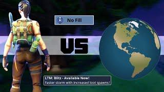 I WON SOLO vs SQUADS on the NEW BLITZ MODE (1v4 fortnite)