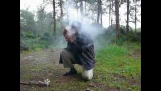 #x202b;מקדח קשת - בגשם כשהכל רטוב. הדלקת אש, שימי רף, שומרי הגן.#x202c;lrm;