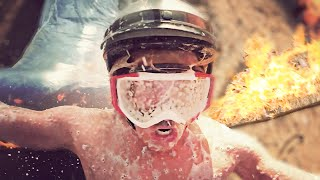 SLIP N SLIDE THROUGH A RING OF FIRE! (Don't try this) // ScottDW