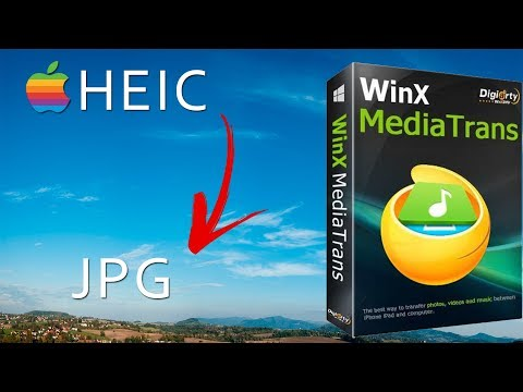 How to convert HEIC photos to JPG from iPhone to PC (WinX MediaTrans)