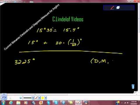 Convert Between Decimals and Degrees Minutes and Seconds Angle Measurement