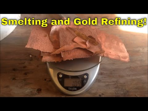 Smelting and Gold Refining Part 2: Electroplating copper to recover gold and silver