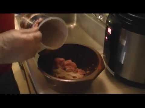 Cooking Spaghetti Pasta and Meatballs in a Pressure Cooker Cusinart Electric