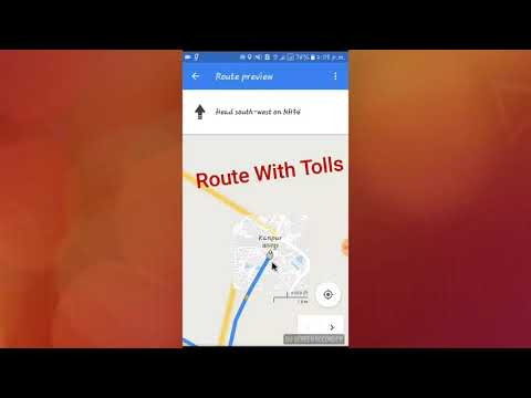 How to Avoid tolls on google map..