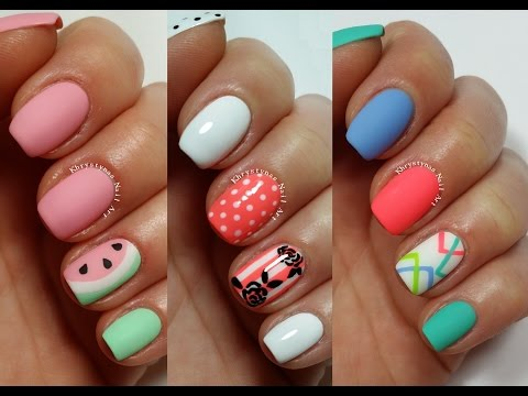 3 Easy Nail Art Designs for Short Nails | Freehand #2