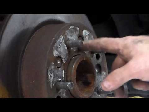 How to drill the rotor off a corvette.