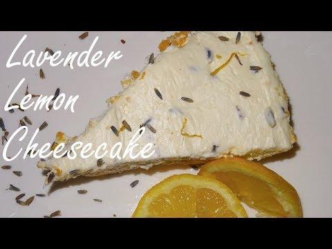 No Bake Cheesecake - Lavender Lemon Cheesecake, No Bake