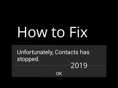 unfortunately contacts has stopped solution 2018   Android Tricks And Hacks