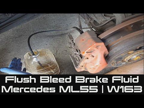 How to Change Brake Fluid on Mercedes ML55   W163   Bleeding or Flushing Your Brake Fluid DOT 4