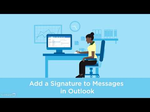 Adding an email signature in Outlook