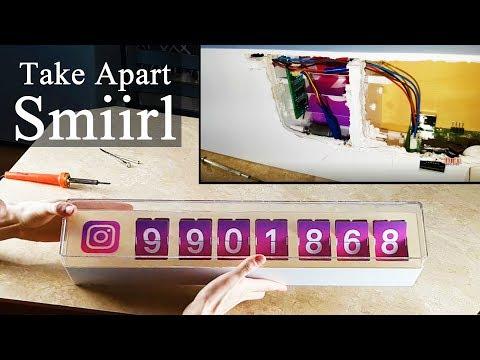 Take Apart Smiirl Social Media Counter - 7 Digit Instagram