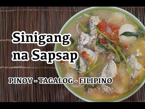 Paano magluto Sinigang na Sapsap Recipe - Pinoy Tagalog Filipino